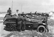 A number of SdKfz 253 forward artillery observation halftracks