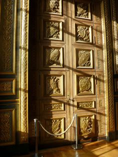 Beautiful door in the Louvre, Paris