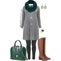 """#plus #size #outfit """"Plus Size - Winter Teal"""" by alexawebb on Polyvore @alexandrawebb"""
