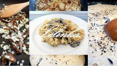 Pasta se sušenými hříbky a smetanovou omáčkou  Pasta with dried mushrooms and cream sauce