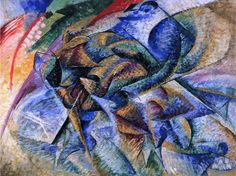 Umberto Boccioni / Dynamism of a Cyclist / Oil on canvas / 70 x 95 cm / Peggy Guggenheim Collection, Venice