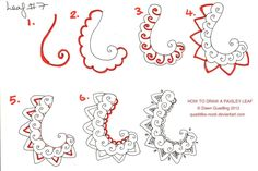 How to draw Paisley Leaf 07 by Quaddles-Roost on deviantART