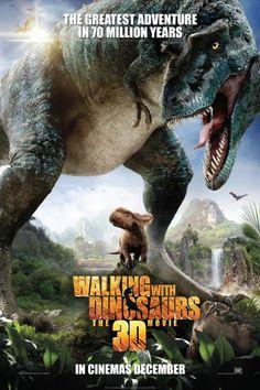 ★★★★Walking With Dinosaurs  (2013) Animatie, 'Walking with Dinosaurs 3D' creëert een levensechte wereld die het publiek terugbrengt naar de prehistorische wereld zoals deze 70 miljoen jaar geleden bestond. Tegen deze achtergrond wordt een baby dinosaurus gevolgd tot zijn wasdom. Hij raakt zijn familie kwijt en een lange zoektocht begint