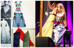 Joanna Newsom || Michael Van der Ham custom embroidered silk moiré dress for Divers tour.