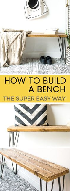 How to build a bench – the super EASY WAY! If you've suddenly decided your home (or garden) is in need of a bench, why not try making a bench yourself! In this tutorial, I'll show you how to build a bench – THE EASY WAY!