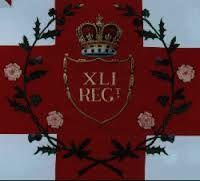 Regimental Colour- The 41st Regiment of Foot