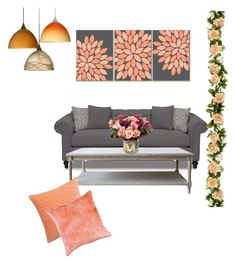 """""""Untitled #78"""" by ctofan ❤ liked on Polyvore featuring interior, interiors, interior design, home, home decor, interior decorating, Besa Lighting, CB2, Jayson Home and colorchallenge"""