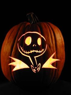 disney themed jack o lanterns to get you in the halloween spirit - Nightmare Before Christmas Jack O Lantern