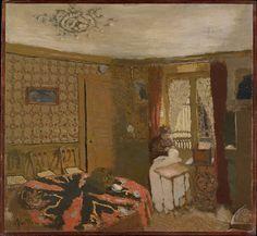Édouard Vuillard (French, 1868–1940). Mme Vuillard Sewing by the Window, rue Truffaut, ca. 1899. The Metropolitan Museum of Art, New York.  Robert Lehman Collection, 1975 (1975.1.225). #paris