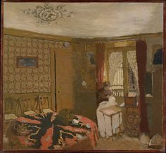Édouard Vuillard (French, 1868–1940). Mme Vuillard Sewing by the Window, rue Truffaut, ca. 1899. The Metropolitan Museum of Art, New York.  Robert Lehman Collection, 1975 (1975.1.225). #paris
