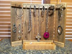 Rustic Jewelry Display Panel with Ring tray by FaithinGodRanchshop, $40.00