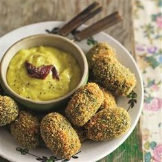 Crunchy spinach fritters with mild anchovy aïoli Recipe | delicious. Magazine free recipes