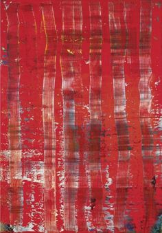 abstract, artists, red paint, art paintings, gerhard richter