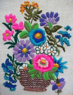 modflowers: vintage crewel embroidery