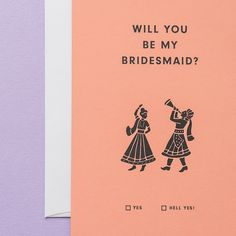 by Badal | New Indian bride/ bridesmaid card! Indian wedding. Southasian wedding.