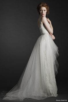 anais anette fall 2014 bridal odette wedding dress - Love this! Wedding Dresses 2014, Wedding Bridesmaid Dresses, Wedding Attire, Bridal Dresses, Girls Dresses, Flower Girl Dresses, Bridal Gown, Beautiful Wedding Gowns, Beautiful Dresses