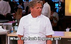 24 Perfect Gordon Ramsay GIFs Perfect For Every Situation - I need these! Love me some Gordon Ramsay :) Gordon Ramsay Funny, Chef Gordon Ramsay, Get A Boyfriend, Gordon Ramsey, Singing Happy Birthday, Food Humor, When Someone, Laughter, Haha