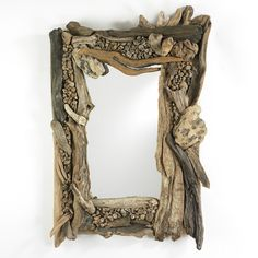 The frame of our Driftwood mirrors are hand crafted from dozens of pieces of natural driftwood, so each mirror is one-of-a-kind. Description from pinterest.com. I searched for this on bing.com/images