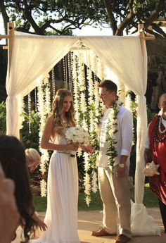 Glam Bohemian Wedding Ideas.  Pinned by Afloral.com from http://www.sivanayla.com/2013/09/04/maui-diaries-peachy-keen/ ~Afloral.com has high-quality faux flowers and crystal garlands for your DIY wedding on a budget.