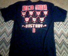 Men's Majestic Boston Red Sox History T-Shirt Size Large 1903 to 2007 #Majestic #BostonRedSox