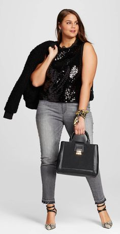 Plus Size Sequin Tank - Who What Wear for Target