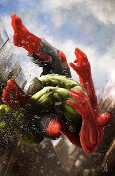 """HULK STRONGEST THERE IS!!!""    Hulk Vs. Red Hulk by MAtteoSpirito"