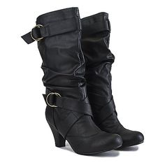 Buy Women's Low-Heel Pocket Boot Reggie-01P Black Online. Find more women's riding, low-heel, and pocket boots at ShiekhShoes.com.
