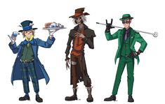 So rmb how I mentioned I was going to do a take of my own on the rogues? Here they finally are in costume. I did the dork squad because it should be apparent by now that I love them too. Riddler Gotham, Gotham Villains, Gotham Tv, Best Villains, Cute Batman, Batman Art, Dc Comics Art, Batman Comics, Arkham Knight Scarecrow