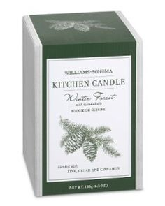 Williams-Sonoma Winter Forest Candle---THE best candle out there, smells like christmas