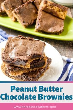 Homemade desserts are the best! These tasty chocolate peanut butter brownies are made from scratch. This easy recipe uses cocoa powder for a rich chocolate base and is layered with a decadent peanut butter swirl. Easy Baking Recipes, Best Cookie Recipes, Brownie Recipes, Sweet Recipes, Homemade Peanut Butter Cups, Peanut Butter Candy, Peanut Butter Desserts, Homemade Desserts, Dessert Recipes