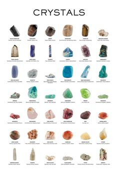 Crystal Healing Chart, Crystal Guide, Healing Crystals, Healing Crystal Jewelry, Crystal Names, Crystal Meanings, Crystals And Their Meanings, Gemstones Meanings, Crystals And Gemstones
