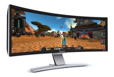 WORLDS FIRST CURVED DESKTOP MONITOR