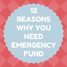 This is why you NEED and emergency fund!