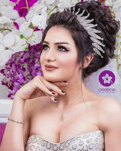 10 Most Amazing Wedding Hairstyles To Look Stunning During Your Weddings Wedding Hairstyles With Crown, Elegant Hairstyles, Indian Hairstyles, Bride Hairstyles, Wedding Hair And Makeup, Bridal Hair, Hair Makeup, Fairytale Hair, Haircut For Thick Hair