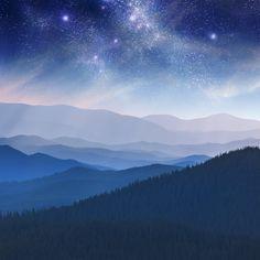 Mountain Mural, Mountain Paintings, Mountain Landscape, Floor Murals, Wall Murals, Canvas Wall Art, Wall Art Prints, Mountains At Night, Digital Art Beginner