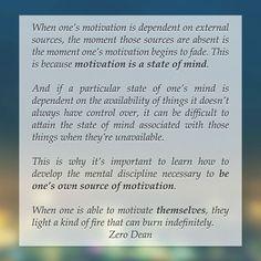 Excerpt from Zero Dean's book.