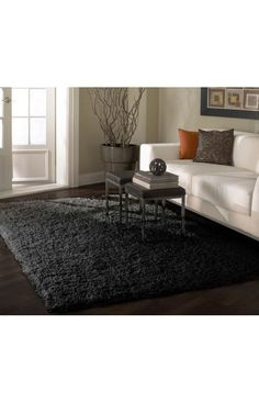 Rugs USA Venice Shaggy Black And Grey Rug. Rugs USA Fall Sale up to 80% Off! Area rug, rug, carpet, design, style, home decor, interior design, pattern, trends, home, statement, fall,design, autumn, cozy, sale, discount, interiors, house, free shipping.