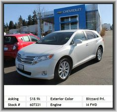 2009 Toyota Venza FWD 4cyl Wagon   Power Remote Driver Mirror Adjustment, 4-Wheel Abs Brakes, Center Console: Full With Covered Storage, Wheel Width: 7.5, Three 12V Dc Power Outlets, Dusk Sensing Headlights, Rear Center Seatbelt: 3-Point Belt, Suspension Class: Regular, Coil Front Spring, Door Pockets: Driver, External Temperature Display, Metal-Look Grille, Cruise Control, Power Remote Passenger Mirror Adjustment, Passenger And Rear, Overall Width: 75.0