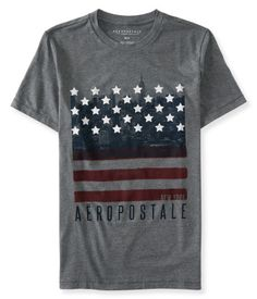 Napapijri Grey T-Shirt Old Effect Graphic Printing Mens.