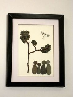 Family of four Pebble Art Dragon Fly Art by PebbleSimplicity