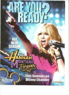 Miley Cyrus, Hannah Montana, Full Page Ad