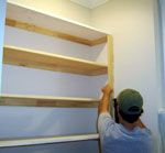 Easy DIY shelving for a built-in look