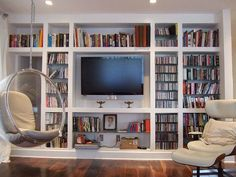 Bookcase with tv storage bookshelf stand combo bookcase with storage bookshelf wall unit white bookcase with . bookcase with tv storage Bookshelves With Tv, Bookcase Wall Unit, Wall Shelving Units, Bookshelf Design, Built In Bookcase, Painted Bookcases, Book Shelves, Glass Shelves, Ladder Bookshelf