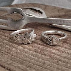 Oak leaf and acorn rings