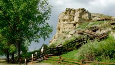 Billings, Montana - Stairs to Pompeys Pillar - Lewis & Clark Expedition - Clark climbed here in 1806 without the stairs and carved the date and his name.