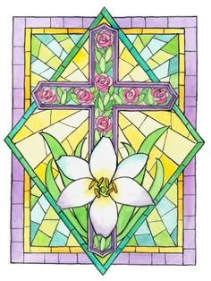 illustrations divers artistes serie E ( Parker Fulton) Beautiful Paintings, Beautiful Images, Mosaic Glass, Glass Art, Stain Glass Cross, Creation Photo, Cellphone Wallpaper, Phone Wallpapers, Easter Cross