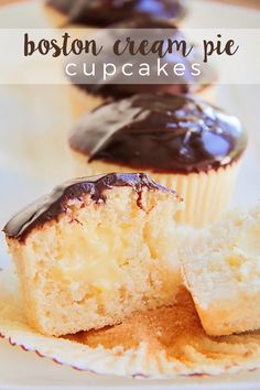 These luscious and delicious Boston cream pie cupcakes are so fun to make, and gorgeous too!
