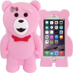 3D Pink Teddy Bear Case for Apple iPhone 6 Plus 6S Plus Cartoon Silicone Cover  #UnbrandedGeneric