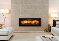 Pivot Stove & Heating Company Wood and Gas Heaters, Cookers and Hydronic Heating Inset Log Burners, Inset Stoves, Living Room Modern, Living Spaces, Wood Fuel, Electric Fires, Wood Burning Fires, Luxury Interior, Interior Ideas