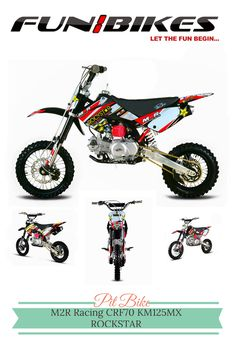 M2R Racing CRF70 KM125MX Pit Bike ROCKSTAR